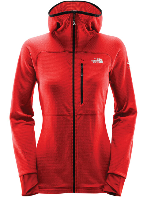 The North Face W's L2 Proprius Fleece Hoodie Jacket Fiery Red